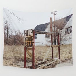 Help Your Self Wall Tapestry