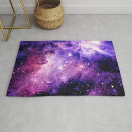 Galaxy Nebula Purple Pink : Carina Nebula Rug
