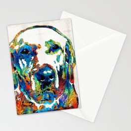 Labrador Retriever Art - Play With Me - By Sharon Cummings Stationery Cards