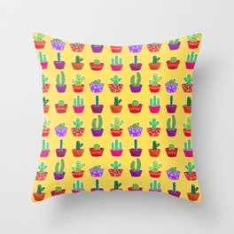 Thorns in colors Throw Pillow