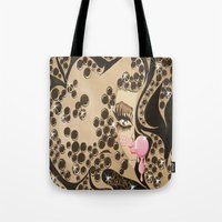 blondie Tote Bags featuring Blondie by Artist_Fran_Doll