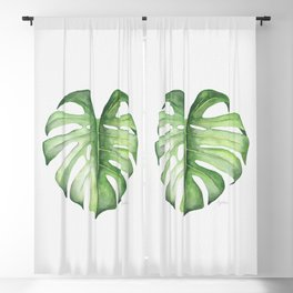 Monstera Blackout Curtain
