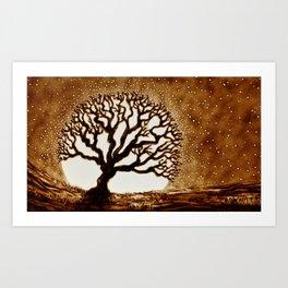 Moon Brain Art Print