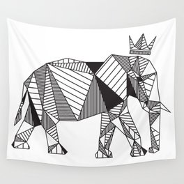Geometric Elephant Wall Tapestry