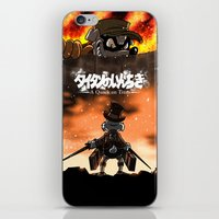 attack on titan iPhone & iPod Skins featuring A Quack on Titan by ADobson