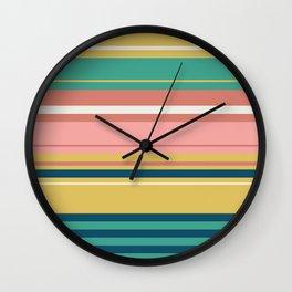 Horizon in Yellow Multicolor Wall Clock