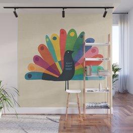 Whimsical Peacok Wall Mural