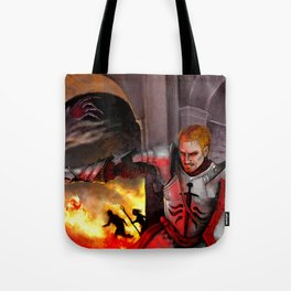 Dragon Age - Cullen - Tower in Flames Tote Bag