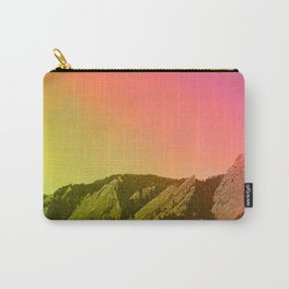 Boulder Colorado Flatirons Decor \\ Chautauqua Park Sunset Red Yellow Photo Nature Bohemian Style Carry-All Pouch