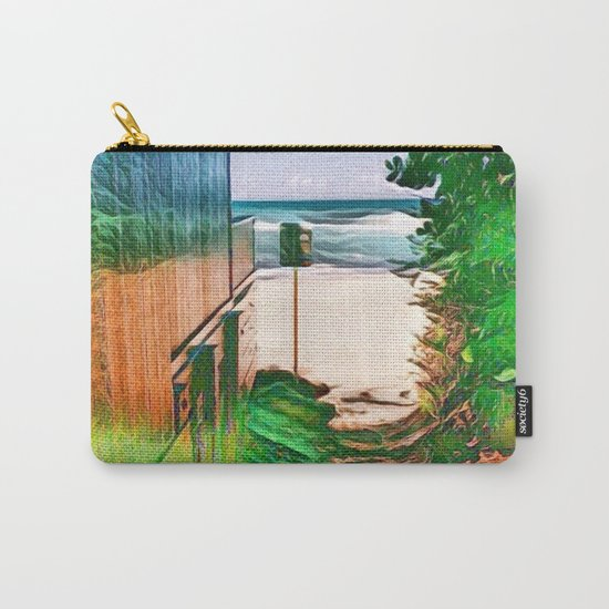 Hippie Beach View (Hippy / Hipster Waves of the Ocean) Carry-All Pouch