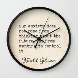 Khalil G. Lebanese writer quote 5 Wall Clock
