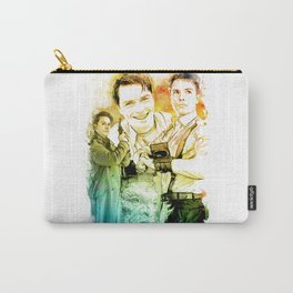 Captain Jack Harkness inspired Mixed Media Watercolor Carry-All Pouch