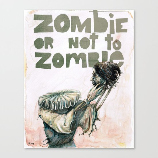 Zombie + Shakespeare Canvas Print