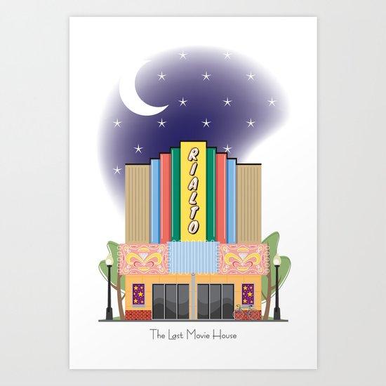 The Last Movie House Art Print