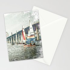 Sailboats Sketch Photo Stationery Cards