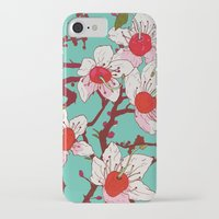 cherry blossoms iPhone & iPod Cases featuring Cherry Blossoms by minniemorrisart