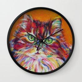 Big fat cat Wall Clock