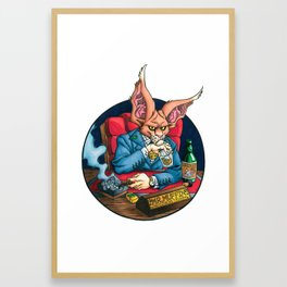 Mr. Muffin: Business Tycoon Framed Art Print