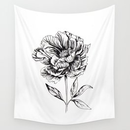 Peonia Flower Wall Tapestry