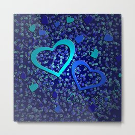 For the Love of Blue Metal Print