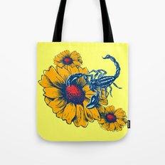Scorpion Flowers Tote Bag