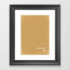 QR paradox Framed Art Print
