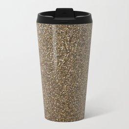 gold glitter photo Travel Mug