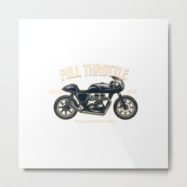 Vintage Motorcycle Store Sign Metal Print