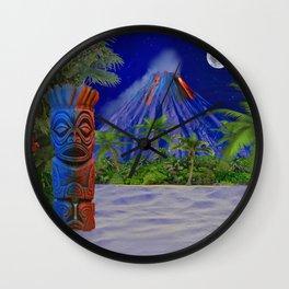 Tiki Art Background Wall Clock
