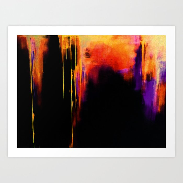 Crooked Drips Art Print