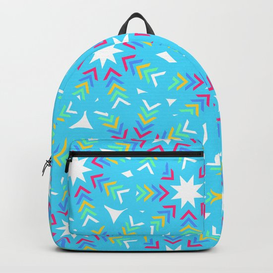 Decoration in blue Backpack
