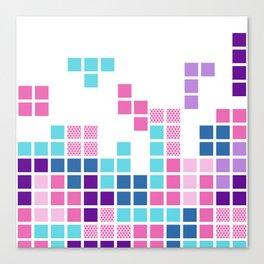 Girly Tetris Canvas Print