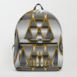 Gray Ombre Abstract Geometry Backpack