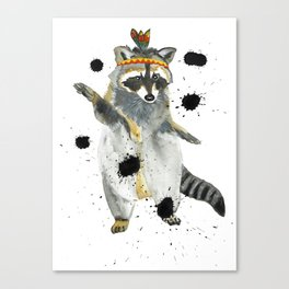Dancing Raccoon Canvas Print