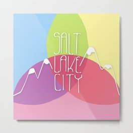 Salt Lake City - CMYK Metal Print