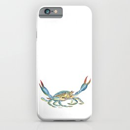 Colorful Blue Crab iPhone Case