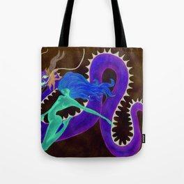 godiva in the night sky Tote Bag