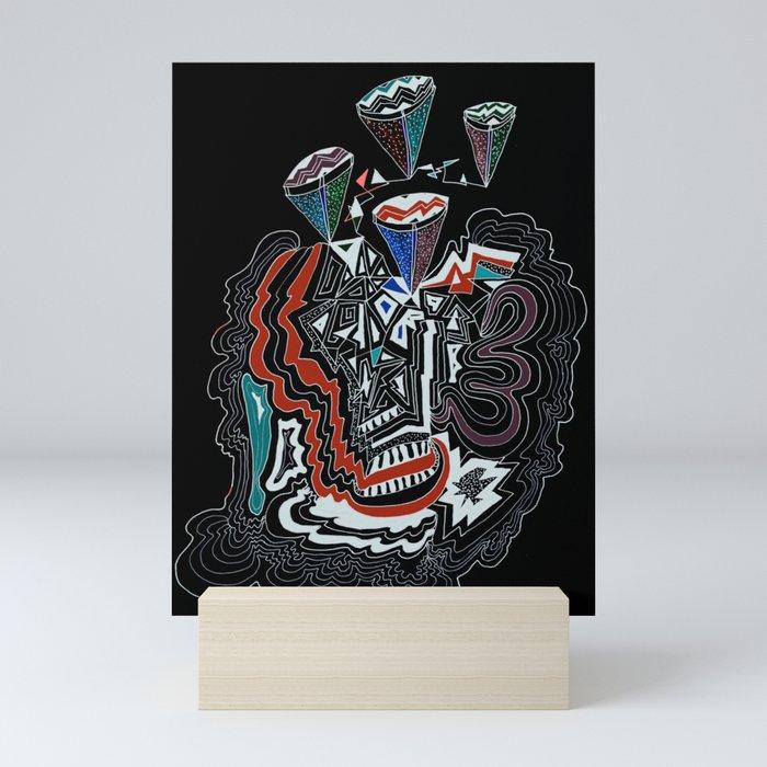 Maze Cones (dark) Mini Art Print