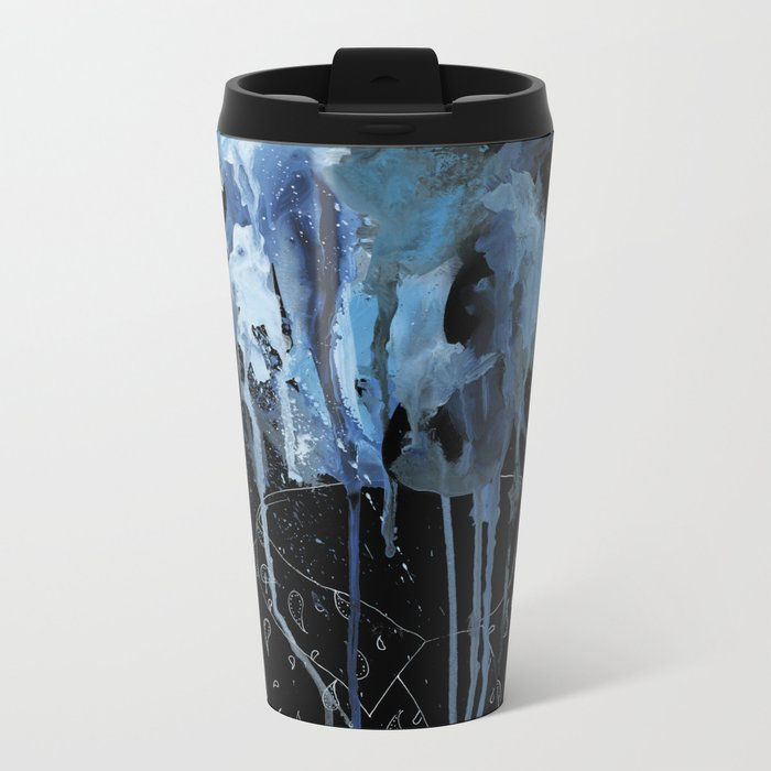 Thousands of faces, none of which I know Metal Travel Mug