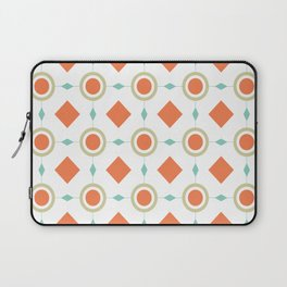 Retro Geometric Pattern Mid Century Modern Circles and Diamonds Laptop Sleeve