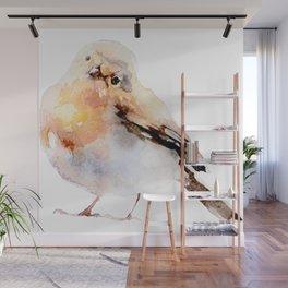 Watercolor Bird Painting Wall Mural