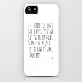 French Miss You iPhone Case