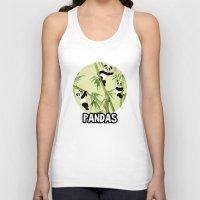 pandas Tank Tops featuring Pandas by Volha