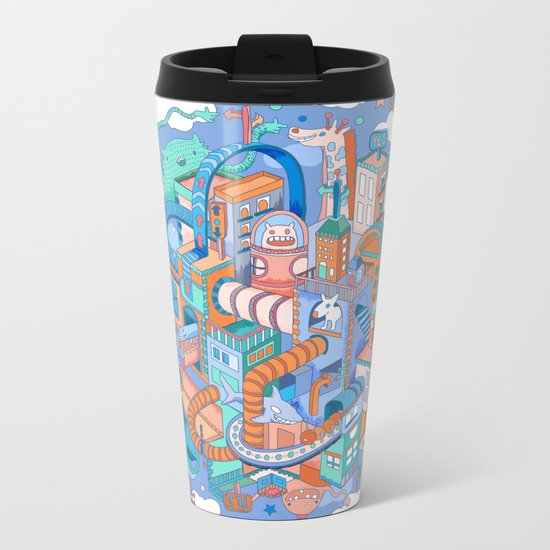 George's place Metal Travel Mug