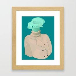 Skull babe 4 Framed Art Print