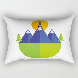 Reach the peak Rectangular Pillow