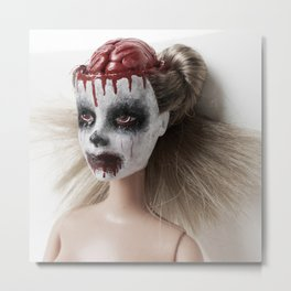 Barbie Zombie Metal Print