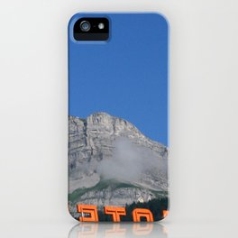 Chamonix hotel iPhone Case