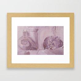 Still Life in Purple Framed Art Print