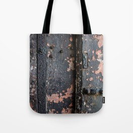 Rusty Fort Door Detail Tote Bag